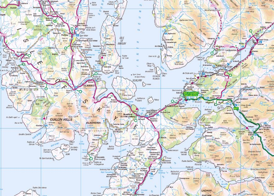 western scotland the western isles 1 250000 os road map